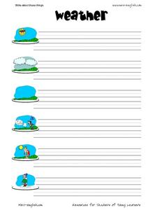 Write About These Weather Words Worksheet
