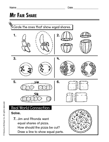 All Worksheets » Equal Parts Worksheets - Free Printable ...