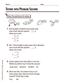 Toying with Problem Solving Worksheet