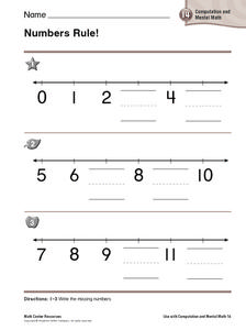 Numbers Rule! Worksheet