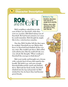 Rob and the Cat Worksheet