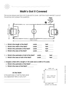 Math's Got It Covered: Working With Measurement Worksheet