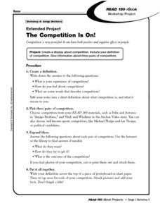 Extended Project: The Competition is On Worksheet