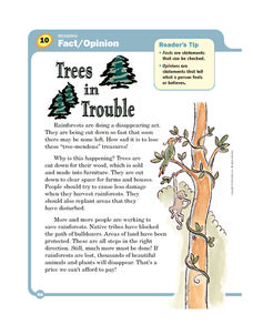 Trees in Trouble Worksheet
