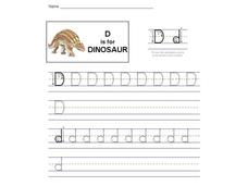 d is for Dinosaur: The Letter D Interactive