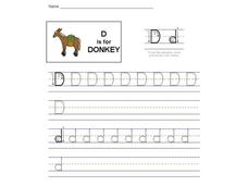D is for Donkey: The Letter D Interactive