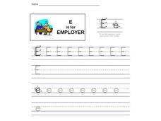 E is for Employer: The Letter E Interactive