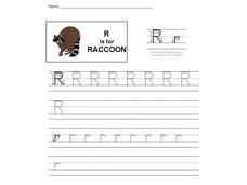R is for Raccoon: The Letter R Interactive