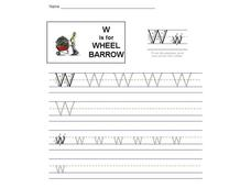 W is for Wheel Barrow: The Letter W Interactive