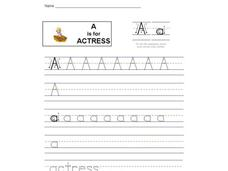 A is for Actress: The Letter A Interactive