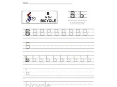 B is for Bicycle: Letter Bb Interactive