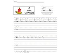 C is for Candle: Letter Cc Interactive