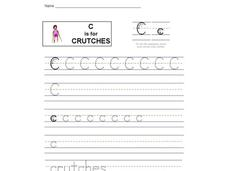 C is for Crutches: Letter Cc Interactive