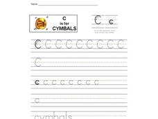 C is for Cymbals: Letter Cc Interactive