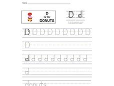 D is for Donuts: Letter Dd Interactive