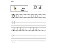 D is for Doll: Letter Dd Interactive