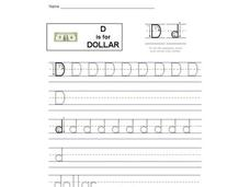 D is for Dollar: Letter Dd Interactive