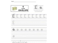 E is for Envelope: Letter Ee Interactive