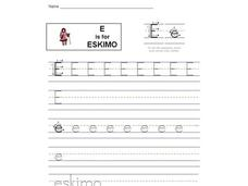 E is for Eskimo: Letter Ee Interactive