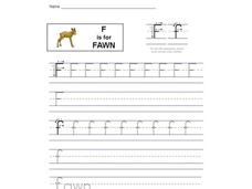 F for Fawn: Letter Ff Interactive