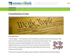 Constitution Costs Lesson Plan