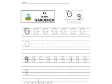 G is for Gardener Interactive