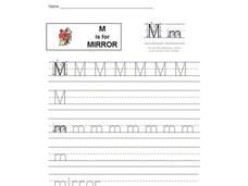 M is for Mirror: Letter Mm Interactive
