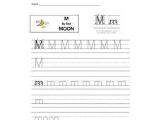 M is for Moon: Letter Mm Interactive
