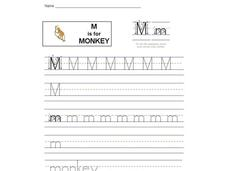 M is for Monkey: Letter Mm Interactive