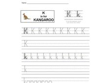 Kk is for Kangaroo: Letter Kk Interactive