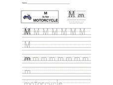 M is for Motorcycle: Letter Mm Interactive
