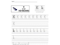K is for Keyboard: Letter Kk Interactive
