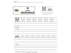 M is for Microwave: Letter Mm Interactive