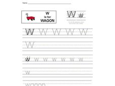 W is for Wagon: Letter Ww Interactive