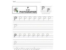 P is for Photographer Worksheet