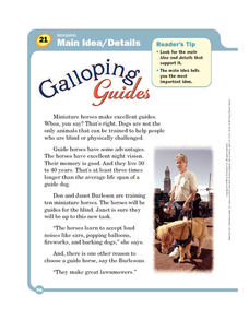 Galloping Guides Worksheet