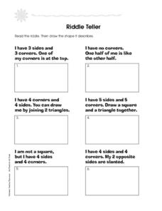 Riddle Teller Worksheet