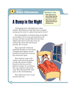 A Bump in the Night Worksheet