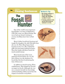 The Fossil Hunter Worksheet