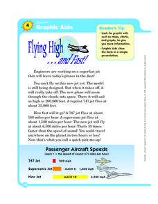 Reading Graphic Aids: Flying High and Fast Worksheet