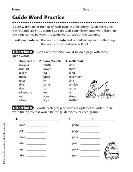 Guide Words Worksheet: Pictures Dictionary Guide Words Worksheet   Beatlesblogcarnival,