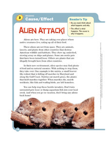 Alien Attack Worksheet