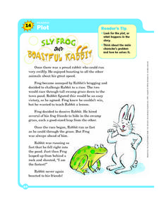 Plot: Sly Frog and Boastful Rabbit Worksheet