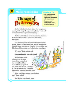Make Predictions: The Sign of the Apprentice Worksheet