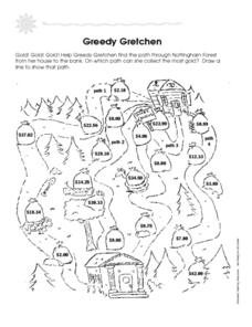 Greedy Gretchen Worksheet