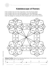 Kaleidoscope of Flowers Worksheet