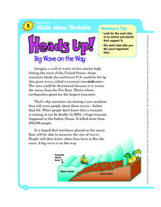 Main Idea and Details: Heads Up! Worksheet