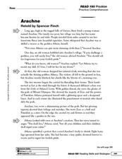 Arachne: Analyze Character Worksheet