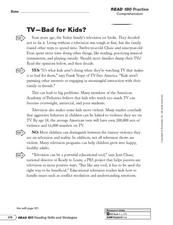 Fact and Opinion Writing Model Worksheet