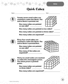 Quick Cubes: Area Worksheet